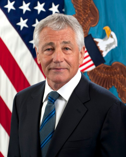 "Secretary of Defense Charles Timothy ""Chuck"" Hagel."