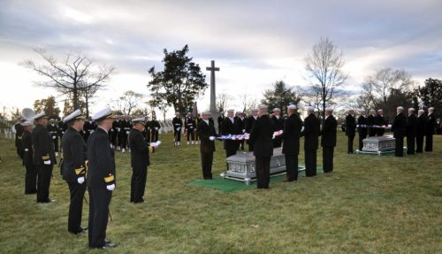 Friday afternoon's solemn burial of the remains of two Monitor sailors who went down with their ship.
