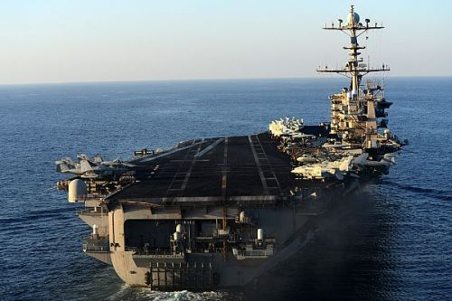 U.S. 5TH FLEET  (March 3, 2013) The aircraft carrier USS John C. Stennis (CVN 74) steams in the U.S. 5th fleet