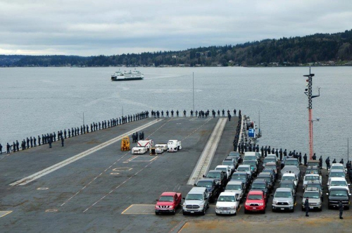 USS Ronald Reagan Departing PSNS