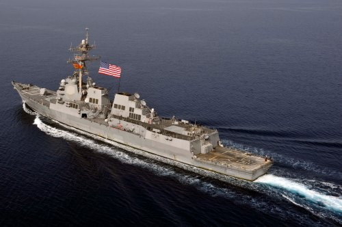 U.S. 5TH FLEET (March 14, 2013) The guided-missile destroyer USS Jason Dunham (DDG 109) transits in the U.S. 5th Fleet area of responsibility. Jason Dunham is deployed with the John C. Stennis Carrier Strike Group to the U.S. 5th Fleet
