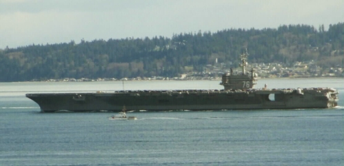 USS Ronald Reagan Completes PSNS Overhaul and Departs for San Diego - Byron Faber