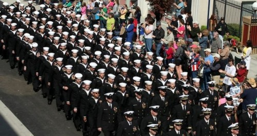 USS Kentucky Marches in the May 2012 Bremerton Armed Forces Day Parade. Meegan M Reid/Kitsap Sun