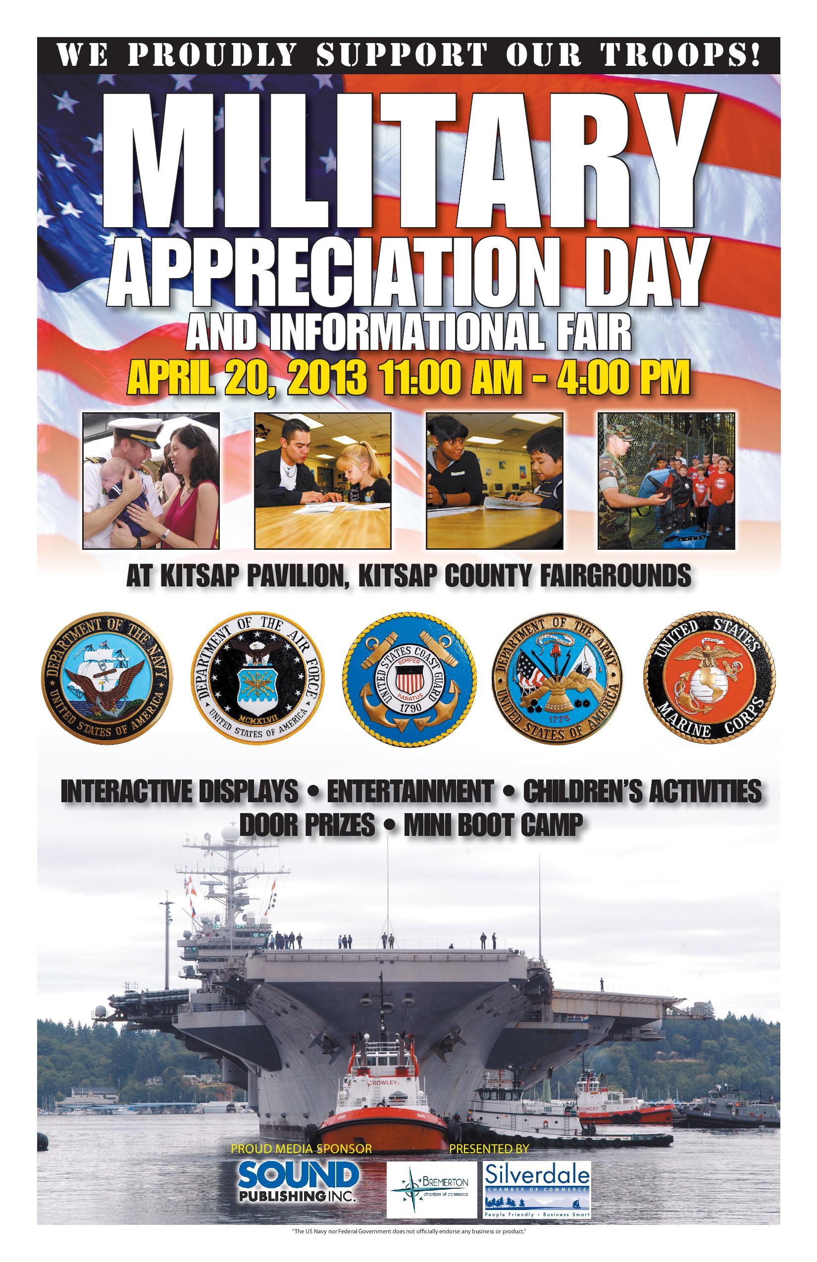 Apr 20 Military Appreciation Day Kitsap Fairgrounds