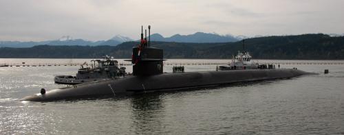 BANGOR, Wash. (April 3, 2013) The Ohio-class ballistic missile submarine USS Alabama (SSBN 731) returns to homeport at Naval Base Kitsap-Bangor following a 108-day strategic deterrent patrol.        Ed Early - US Navy Photo