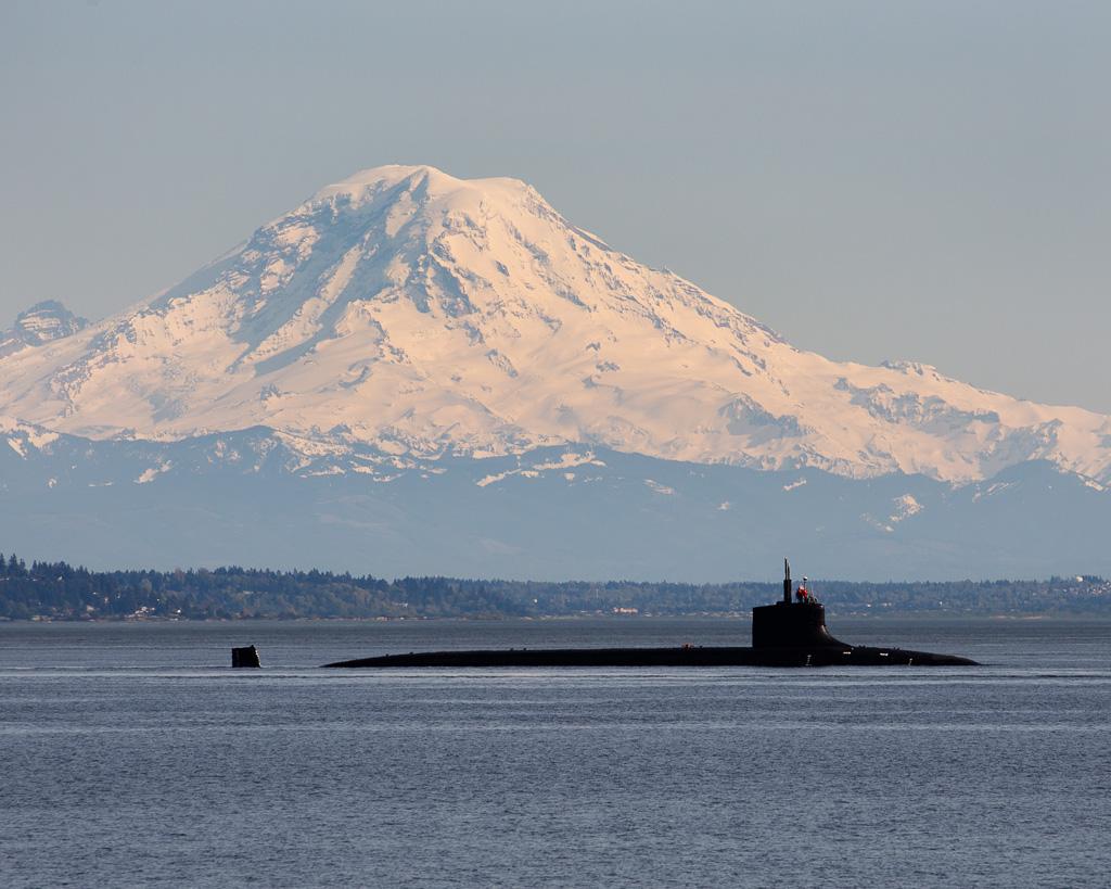USS Seawolf and Mount Rainier | Bremerton-Olympic Peninsula