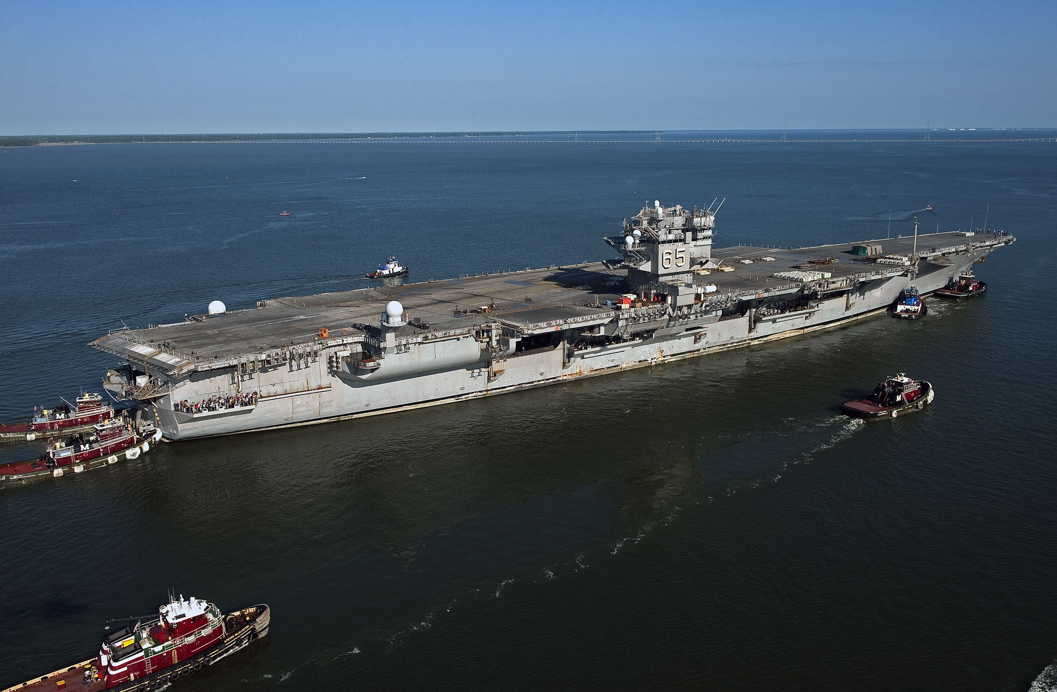 USS Enterprise Makes Final Trip to Newport News Shipyard ...