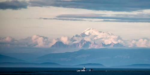 Mt Baker and Dungeness Light - John Conniff