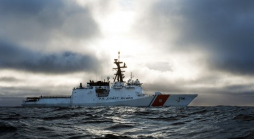 CGC Bertholf in the Arctic Ocean during Arctic Shield 2012. - U.S. Coast Guard photo