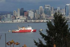 USCGC Healy Returns to Seattle Nov 5, 2013
