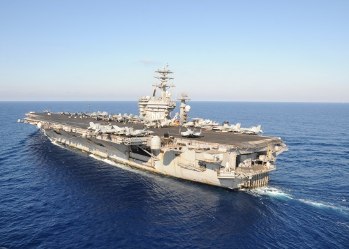 USS Nimitz Transits Med