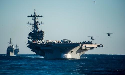 Atlantic Ocean (Dec 13, 2013) The George H. W. Bush Carrier Strike Group
