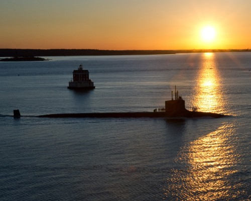 April 7, 2012 USS Mississippi (SSN 782) Alfa trials Electric Boat, Groton CT