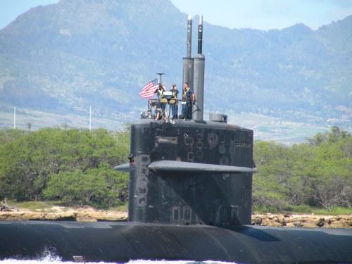 USS Bremerton outbound