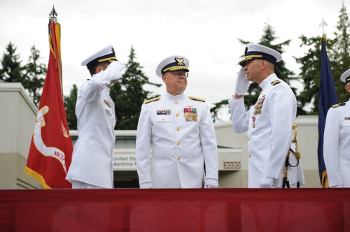 CG MFPU Bangor change of command