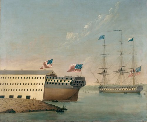 On Oct. 1, 1814, Portsmouth Naval Shipyard launched its first new construction, the 74-gun ship-of-the-line USS Washington.