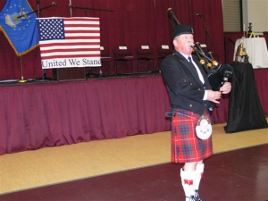 Bagpiper - Veterans Day Event 2014