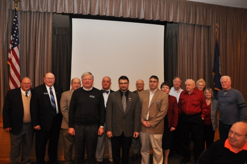 The 2015 Board of Directors for the Bremerton/Olympic Peninsula Council of the Navy League of the United States was sworn in at its January 13th Luncheon. Pictured (left to right) are: Alan Beam, Larry Salter (Immediate Past President), Mike Spence, David Ellingson (Treasurer), Kevin Staub, Tim Katona (President), Steve Westover, Kevin Torcolini (First Vice President), Cynthia Martin, Byron Faber, Robert Lamb (Second Vice President), Helen Miller, Neva Lamb, and George Rose (Judge Advocate). Not pictured are: Tom Danaher, Patricia Faber, Ruth Bond (Secretary), Jack James, Larry Tellinghuisen, Kelly Emerson, and Joe Hulsey.