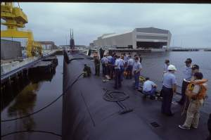 USS Pennsylvania pierside Kings Bay GA 1995