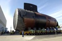 USS New Hampshire bow