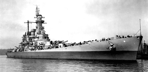 USS Washington BB-56 at Puget Sound Navy Yard April 1944