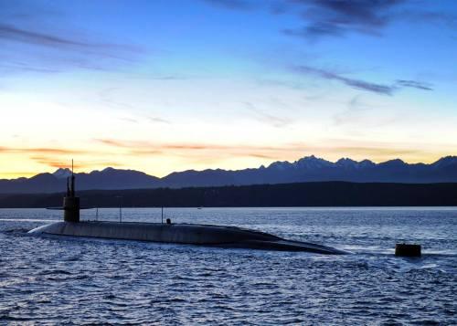 USS Nevada Sunset