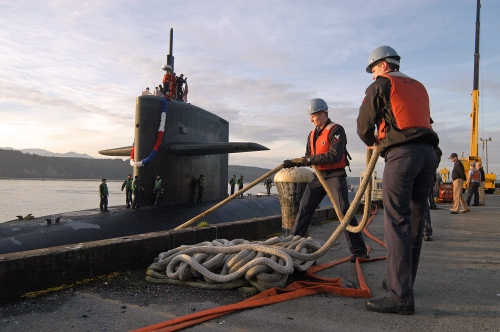 USS Maine (SSBN 741) Blue crew returns from a regularly scheduled patrol Oct. 21.