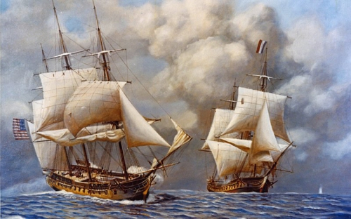 USS Constitution vs. the HMS Guerriere
