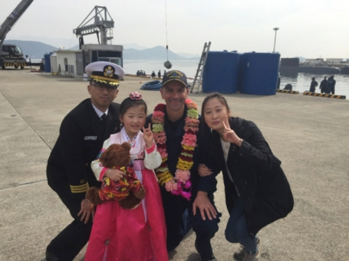 Our welcome committee in Chinhae.